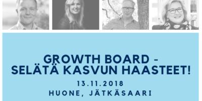 Growth Board – Selätä kasvun haasteet!