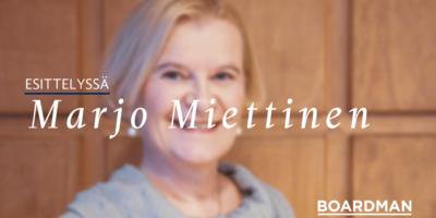 """Marjo Miettinen: """"Omistajuuden käsitettä tulisi laajentaa – se on ennen kaikkea vastuunottoa."""""""