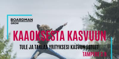 KAAOKSESTA KASVUUN TAMPERE 3.9.