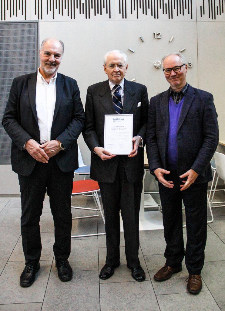 Kuvassa vas. Mikko Haapanen, keskellä Magnus Bargum ja oikealla Kari Kasanen