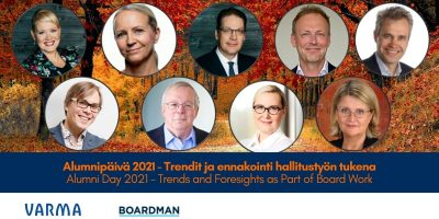Boardman Alumnipäivässä kuultiin monipuolisia näkökulmia trendeistä ja ennakoinnista hallitustyön tukena